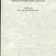 Beiträge zur Geschichte der bündnerischen Kultur. Schriften.