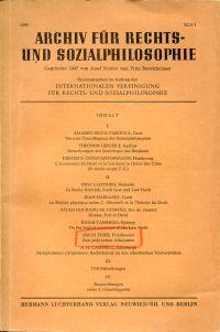 Archiv für Rechts- und Sozialphilosophie, Band XLV/1, 1959.