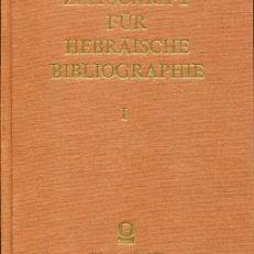 Zeitschrift für hebräische Bibliographie.