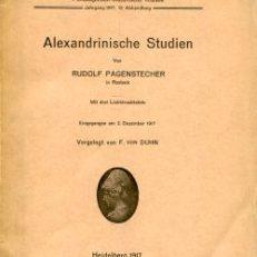 Alexandrinische Studien.