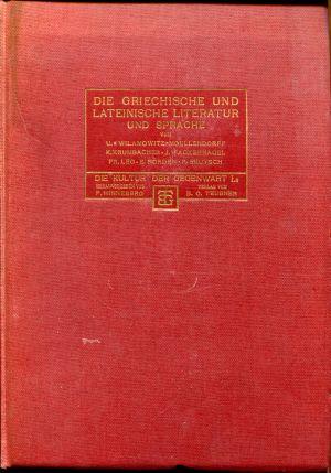 Die griechische und lateinische Literatur und Sprache.