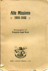 Alte Missiven, 1444-1448.