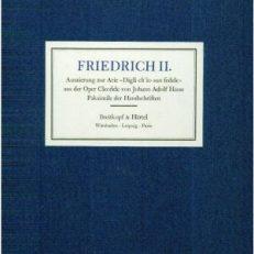 """Friedrich II. Auszierung zur Arie """"Digli ch'io son fedele"""" aus der Oper Cleofide von Johann Adolf Hasse."""