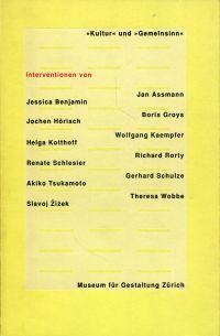"""""""Kultur"""" und """"Gemeinsinn"""". Interventionen."""