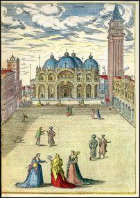 Alte europäische Städtebilder. 32 Darstellungen auf 27 farbigen Blättern nach Georg Braun und Franz Hogenberg.