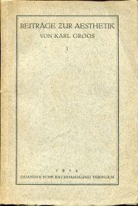 Beiträge zur Aesthetik , 1.