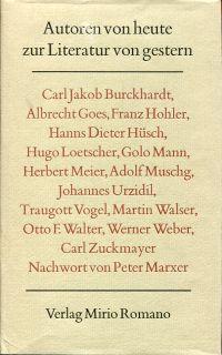 Autoren von heute zur Literatur von gestern.