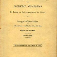 Volksdichte und Besiedelung des bernischen Mittellandes. Ein Beitrag zur Anthropogeographie der Schweiz.