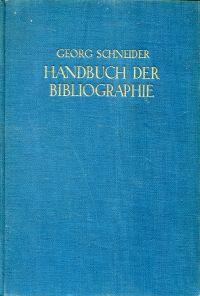 Handbuch der Bibliographie.