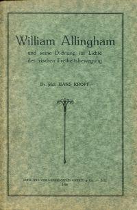 William Allingham  und seine Dichtung im Lichte der irischen Freiheitsbewegung.