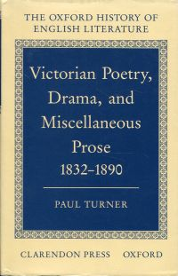 Victorian poetry, drama, and miscellaneous prose. 1832-1890.