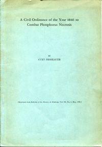 A civil ordinance of the year 1846 to combat phosphorus necrosis.