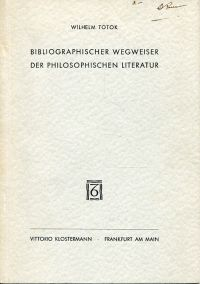 Bibliographischer Wegweiser der philosophischen Literatur.