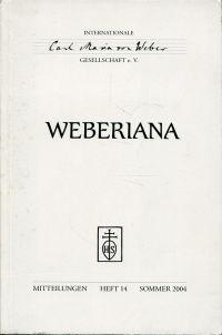 Weberiana, Heft 14, Sommer 2004. Mitteilungen der Internationalen Carl-Maria-von-Weber-Gesellschaft e. V.