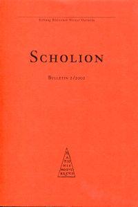 Scholion. Bulletin 2/2002.