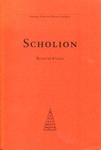Scholion. Bulletin 6/2010.
