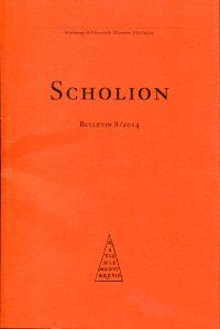 Scholion. Bulletin 8/2014.