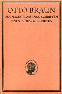 Aus nachgelassenen Schriften eines Frühvollendeten.