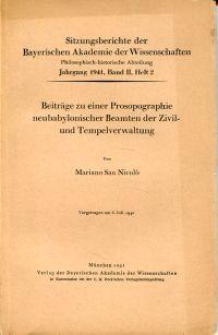 Beiträge zu einer Prosopographie neubabylonischer Beamten der Zivil- und Tempelverwaltung.