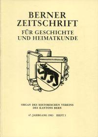 Das wissenschaftliche Bibliothekswesen Berns. Vom Mittelalter bis zur Gegenwart ; zum Jubiläum 450 Jahre Stadt- u. Univ. Bibliothek Bern 1535 - 1985.
