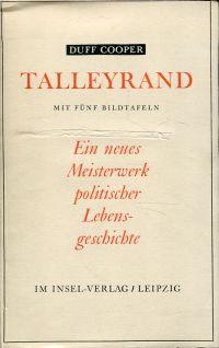 Talleyrand. Übertragen von Karl Lerbs.