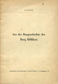 Aus der Baugeschichte der Burg Hilfikon.