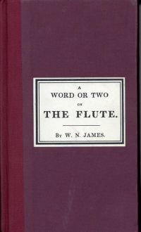 A word or two on the flute.