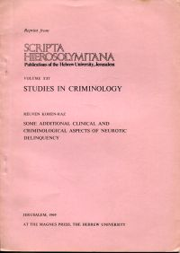 Some additional clinical and criminological aspects of neurotic delinquency.