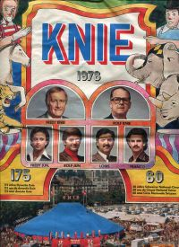 Knie 1978. Jubiläums-Festspiele. 175 Jahre Dynastie Knie. 60 Jahre Schweizer National-Circus.