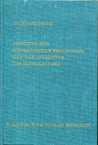 Arbeiten zur germanischen Philologie und zur Literatur des Mittelalters.