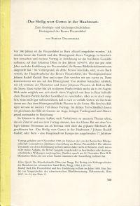 """""""Das Heilig wort Gottes in der Haubtstatt"""". Zum theologie- und kirchengeschichtlichen Hintergrund der Berner Piscatorbibel."""
