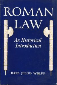 Roman law. An historical introduction.