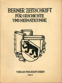 Berner Zeitschrift für Geschichte und Heimatkunde; 1958/2.