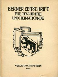 Berner Zeitschrift für Geschichte und Heimatkunde; 1959/4.