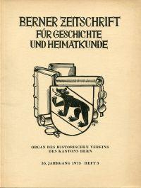 Berner Zeitschrift für Geschichte und Heimatkunde; 1973/3: Lindt, Johann: Berner Buchbinder des 18. und 19. Jahrhunderts.