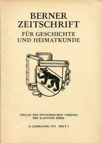 Berner Zeitschrift für Geschichte und Heimatkunde; 1974/2: Gugger, Hans; Mathias Schneider, ein bedeutender Emmentaler Orgelbauer.