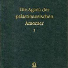 Die Agada der palästinenischen Amoräer.
