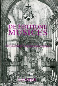 De editione musices. Festschrift Gerhard Croll zum 65. Geburtstag.