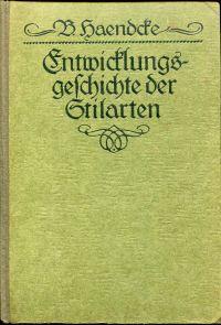 Entwicklungsgeschichte der Stilarten. Ein Handbuch.
