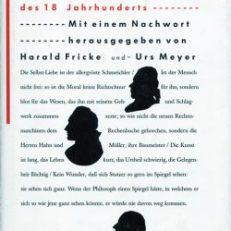 Abgerissene Einfälle. Deutsche Aphorismen des 18. Jahrhunderts.