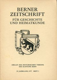 Untersuchungen zum Tellbuch der Stadt Bern von 1389.
