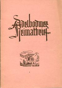 Adelbodmer Heimatbrief, Nr. 5, Herbst 1950.