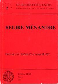Relire Ménandre.