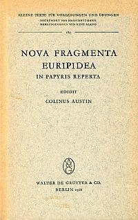 Nova fragmenta Euripidea ; in papyris reperta.