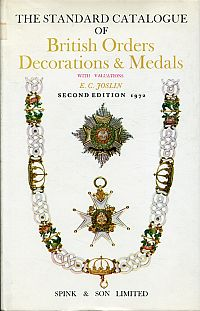 The standard catalogue of British orders, decorations and medals.