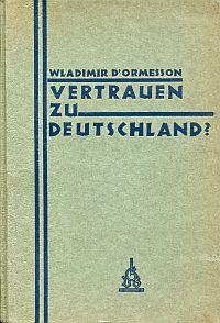Vertrauen zu Deutschland.
