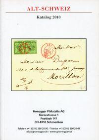 Alt-Schweiz. Katalog 2010.