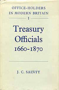 Treasury officials 1660-1870.