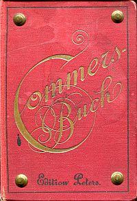 Commersbuch. Mit historisch-kritischen Anmerkungen versehen.