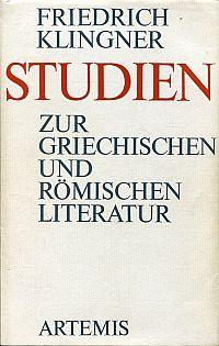 Studien zur griechischen und römischen Literatur.